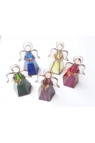 Decoratiune Handmade Opaline Crafts din sticla de vitraliu lucrat in tehnica Tiffany