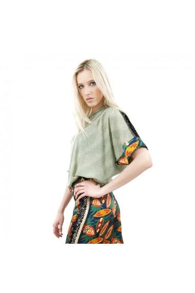 Bluza eleganta verde cu paiete