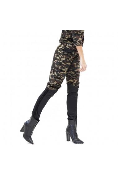 Pantaloni Galife din catifea camuflaj