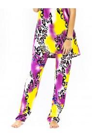 Pantaloni de casa violet panter