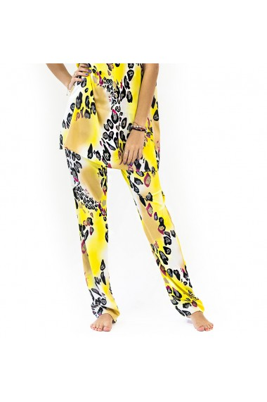 Pantaloni de casa yellow panter