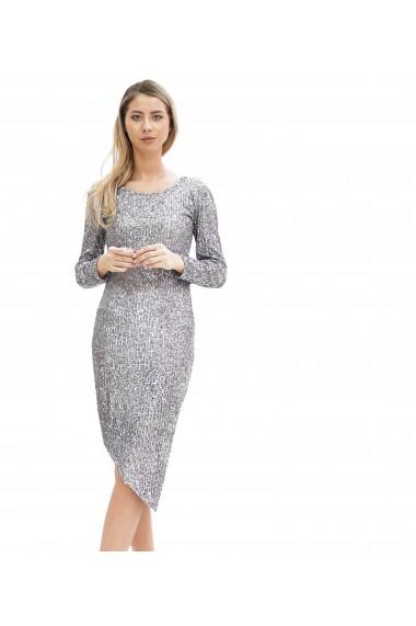 Rochie eleganta cu paiete argintii