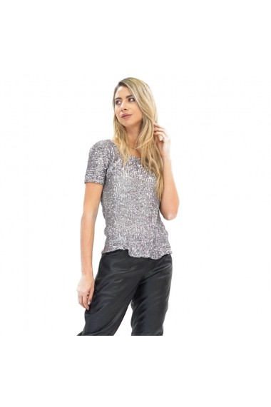 Bluza cu paiete argintii