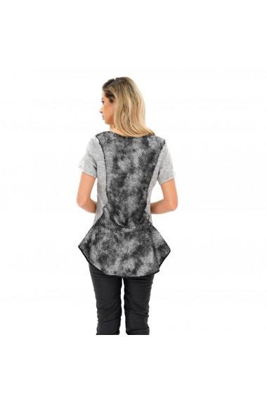 Bluza cu imprimeu tip sarpe