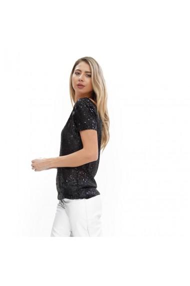 Bluza cu paiete negre