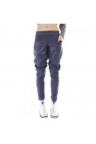 Pantaloni bufanti bleumarin cu buzunare