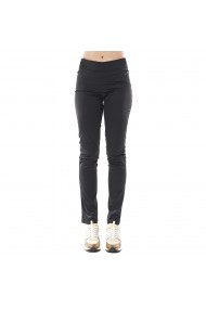 Pantaloni negri din satin cu buzunare