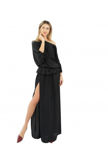 Rochie lunga Butterfly Black