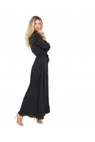 Rochie lunga cu nasturi si cordon neagra