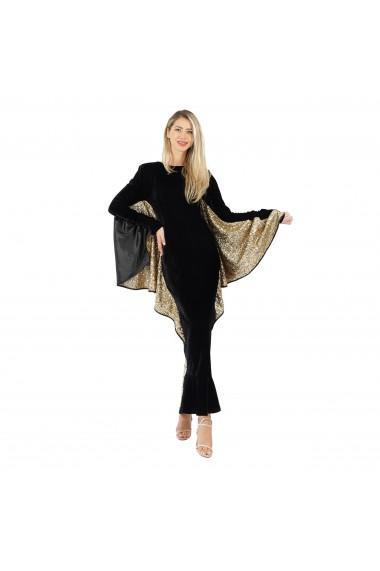 Rochie eleganta cu maneci liliac