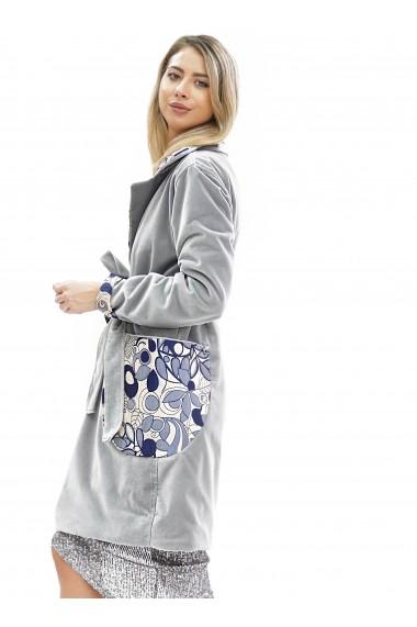 Palton elegant cu detalii florale