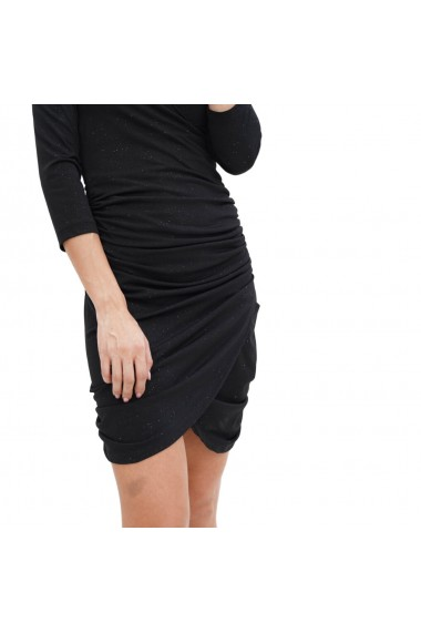 Rochie eleganta din lurex cu maneca lunga