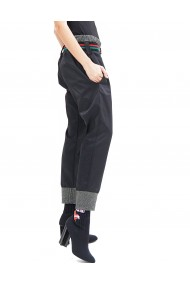 Pantaloni din satin cu curea