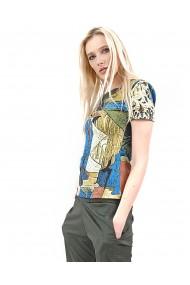 Bluza cu imprimeuri multicolore
