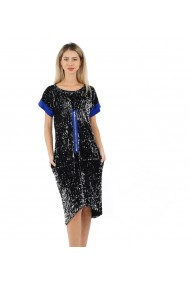 Rochie Unique cu paiete negre si argintii