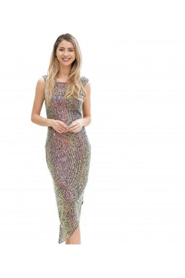 Rochie eleganta cu paiete colorate