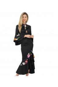 Rochie eleganta cu volane colorate tip flamenco flowers