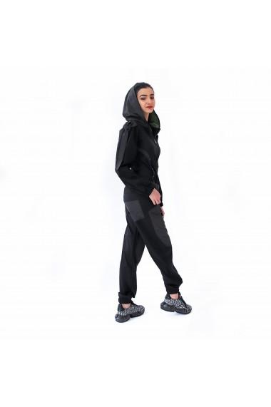 Salopeta sport neagra cu maneca lunga