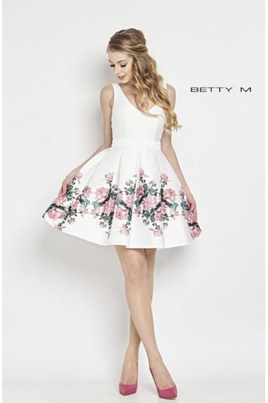 Rochie de seara Betty M Happy Roses Alba