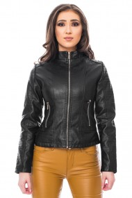 Jacheta de piele ecologica, Jolenttine, negru