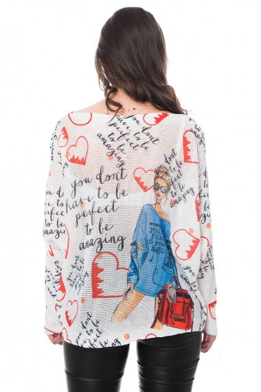 Bluza print Amazing, Jolenttine