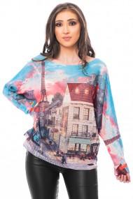 Bluza print Paris, Jolenttine
