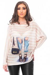 Bluza print jeans, Jolenttine