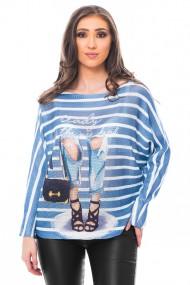 Bluza print Blue Jeans,Jolenttine