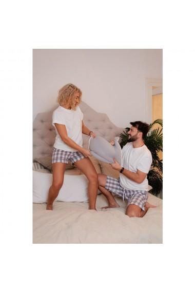 Set pijamale cuplu White