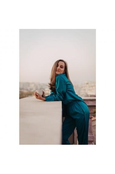 Costum pijama elegant din matase satinata