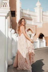 Rochie lunga Eze Roz