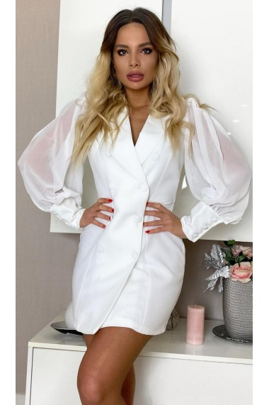 Rochie eleganta White Alb