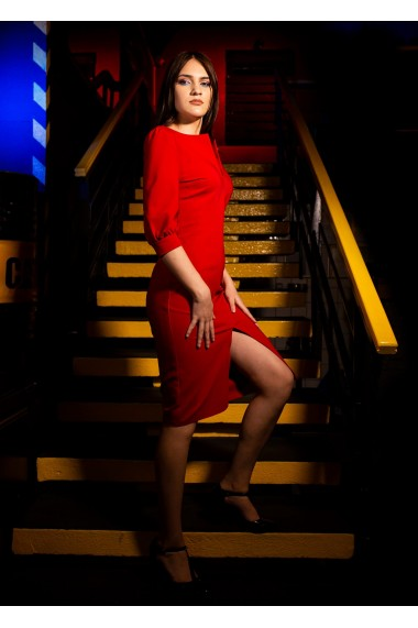 Rochie Lady in Red Rosu