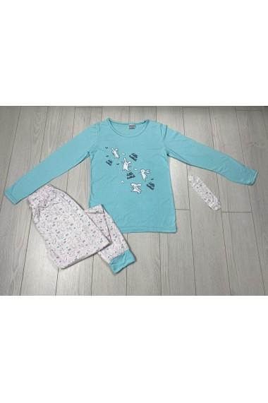 Pijama Little Rabbits Albastru