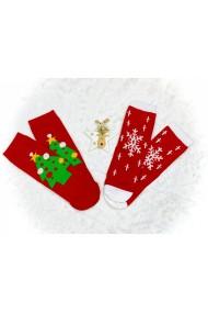 Sosete dama Christmas Fulg Rosu