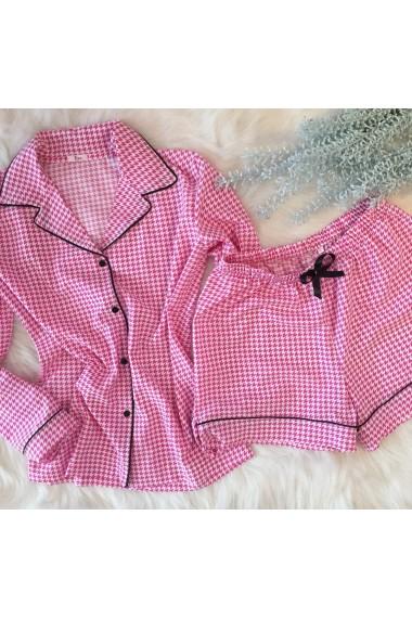 Pijama cu pantalon scurt EZE Roz