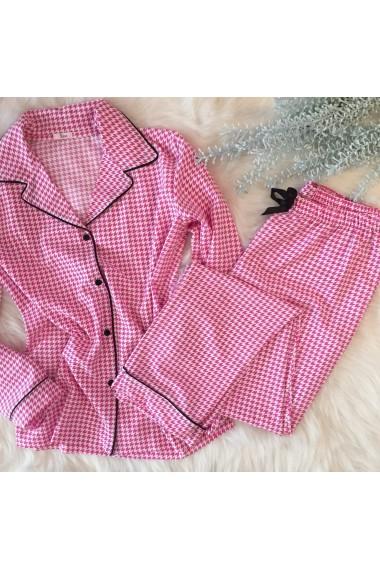 Pijama cu dantela EZE Roz