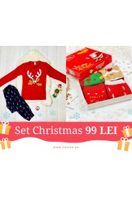 Set Christmas Holiday Rosu