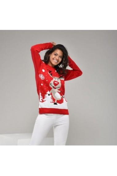 Set Christmas Kboom - rochie si pulover Rosu