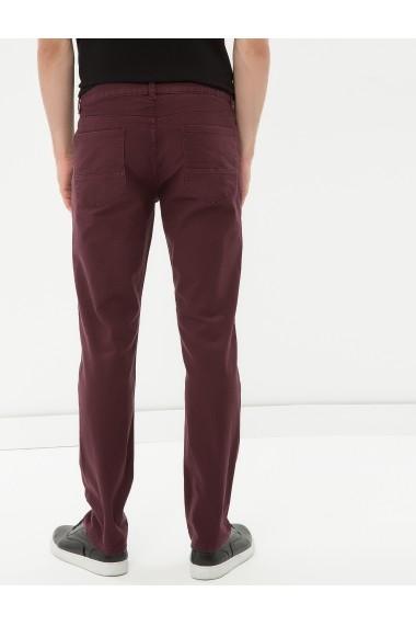 Pantaloni lungi KOTON 7KAM41176LW Bordo - els
