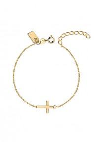 Bratara cruce din argint 925, Ludique Jewelry, auriu
