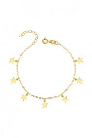 Bratara 7 stelute din argint 925, Ludique Jewelry, auriu