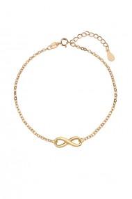 Bratara infinit din argint 925, Ludique Jewelry, auriu