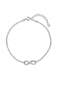Bratara infinit din argint 925, Ludique Jewelry, argintiu
