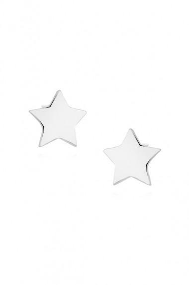 Cercei steluta din argint 925, Ludique Jewelry, argintiu