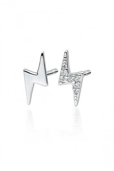 Cercei fulger din argint 925, Ludique Jewelry, argintiu