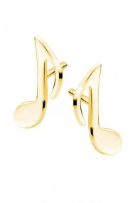 Cercei nota muzicala din argint 925, Ludique Jewelry, auriu