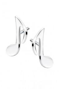 Cercei nota muzicala din argint 925, Ludique Jewelry, argintiu