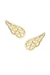 Cercei aripa, Ludique Jewelry, auriu