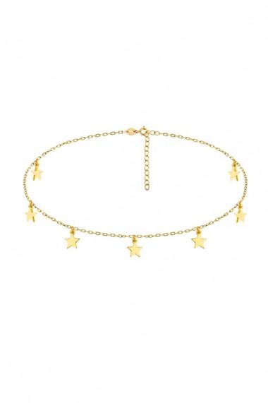Colier choker 7 stelute din argint 925, Ludique Jewelry, auriu